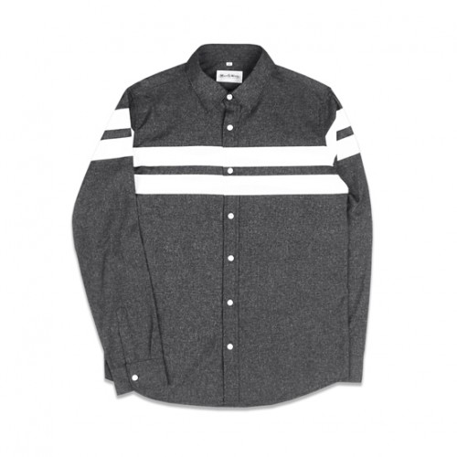 [MARCH WITH] LINE CRACK SHIRTS (BLACK)