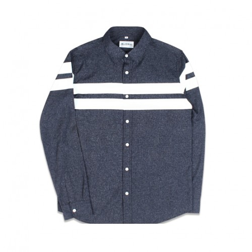 [MARCH WITH] LINE CRACK SHIRTS (NAVY)