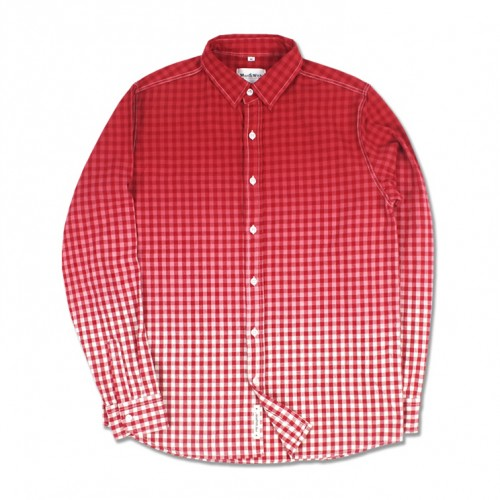 [MARCH WITH] GRADATION GINGHAM SHIRTS (RED)