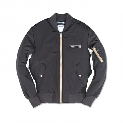 [MARCH WITH] DIVISION MA-1 JACKET (DARK BLACK)