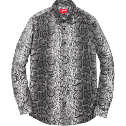 [SUPREME] SNAKE FLANNEL SHIRT GREY