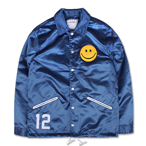 [MARCH WITH] SATIN COACH JACKET DEPP BLUE
