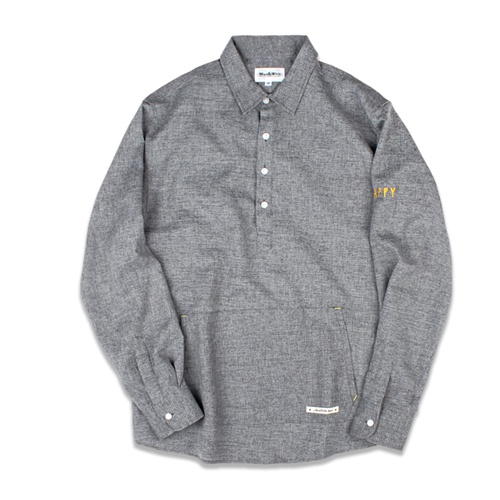 [MARCH WITH] BIG POCKET PULLOVER SHIRTS GRAY