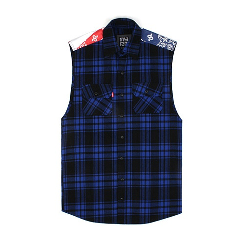 [NASTY PALM] N-STATE SLEEVELESS SHIRTS (BLUE)