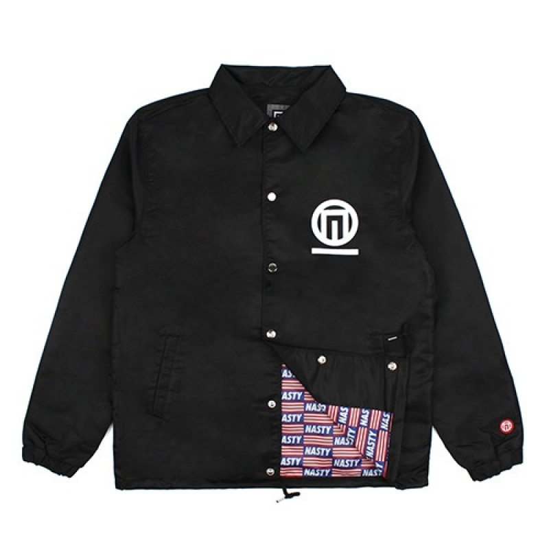 [NASTY PALM] N-FIGURE COACH JACKET (BLK)