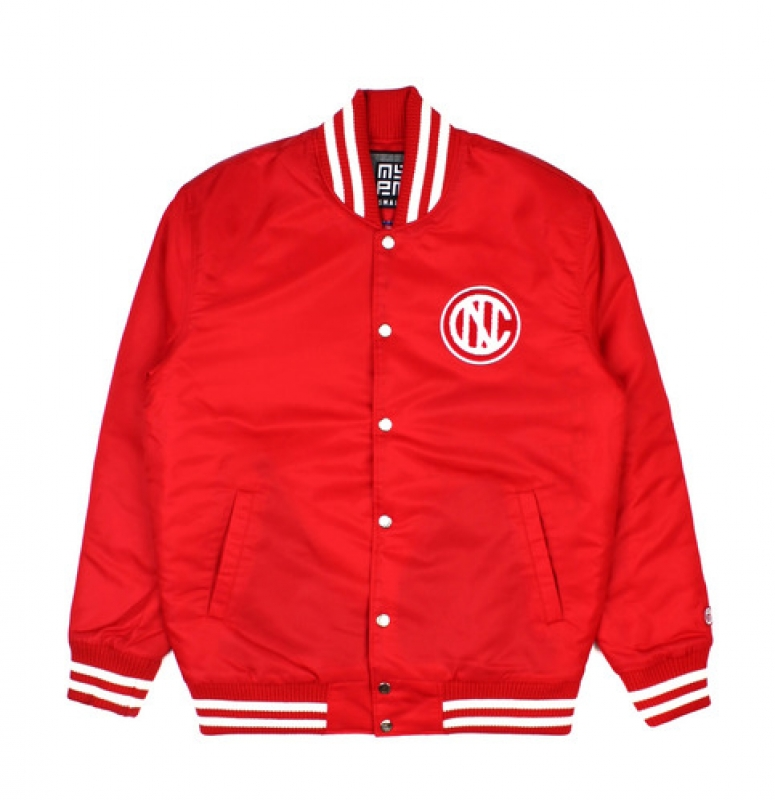 [NASTY PALM] NASTY KICK VARSITY JACKET (RED)