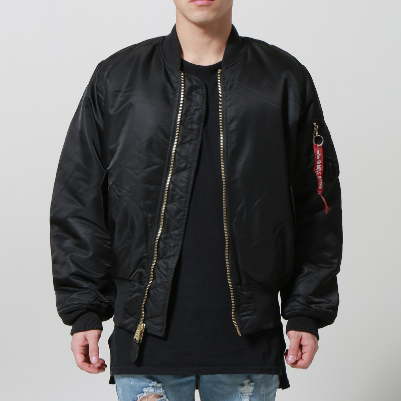 [마지막 수량] [ALPHA INDUSTRIES] MA-1 FLIGHT JACKET (BLACK)