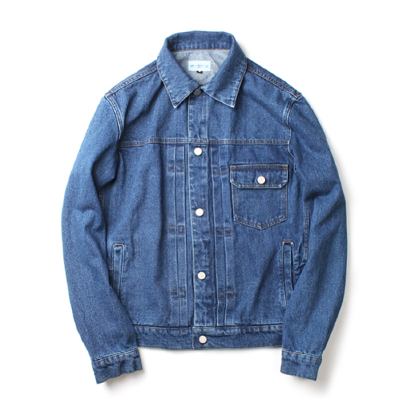[MARCH WITH] WASHED DENIM JACKET LIGHT BLUE