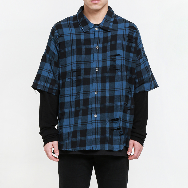 [EPTM] CHICANO NAVY FLANNEL THERMAL SLEEVES