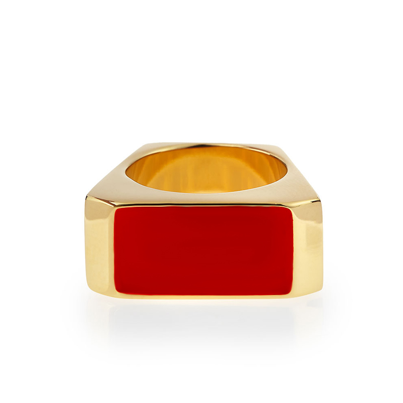 [SLP] GOLD/RED COLORBLOCK RING