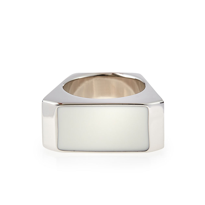 [SLP] SILVER/WHITE COLORBLOCK RING
