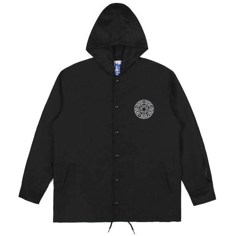 [NASTY PALM] NOISE HOODIE COACH JACKET (BLK)
