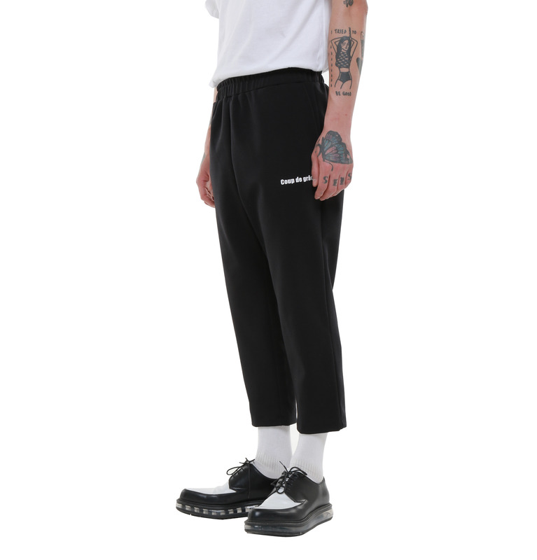 COUP DE GRACE POLY SKINNY SLACKS (BLACK)
