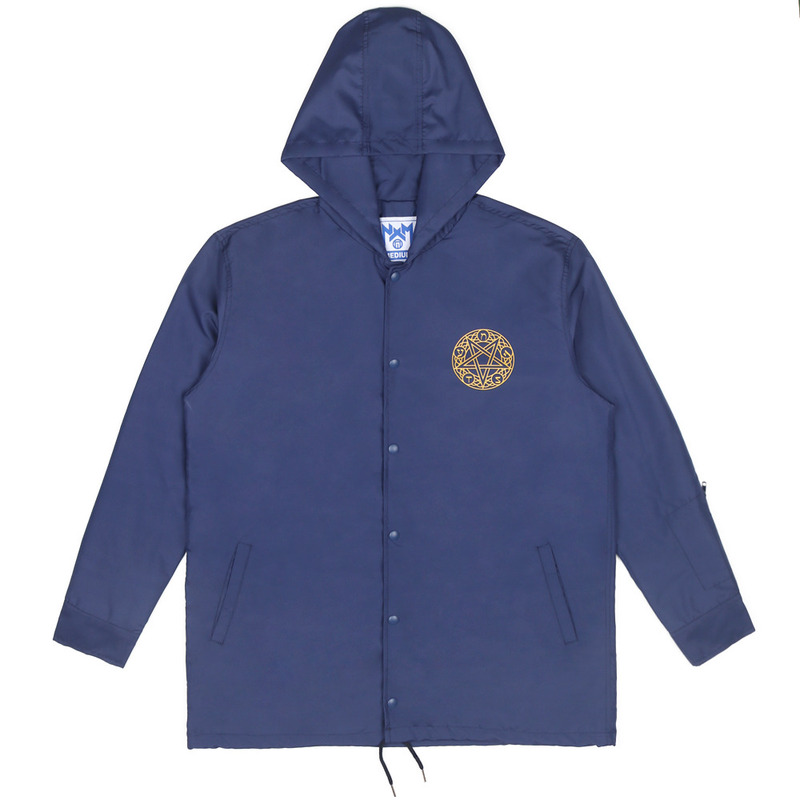 [NASTY PALM] NOISE HOODIE COACH JACKET (NAVY)