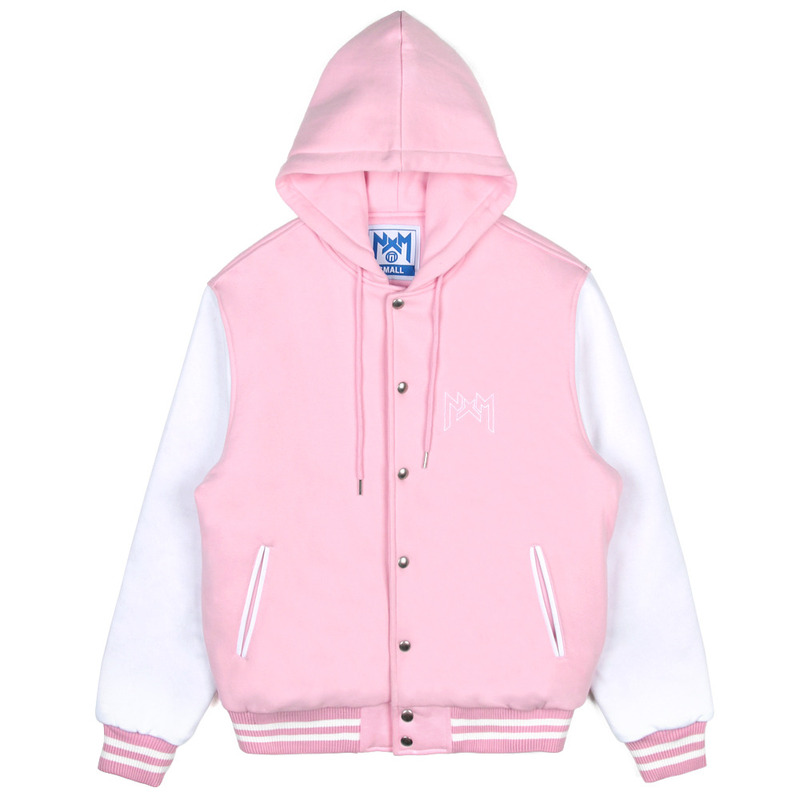 [NASTY PALM] NASTY KICK HOODIE STADIUM JACKET (PINK)