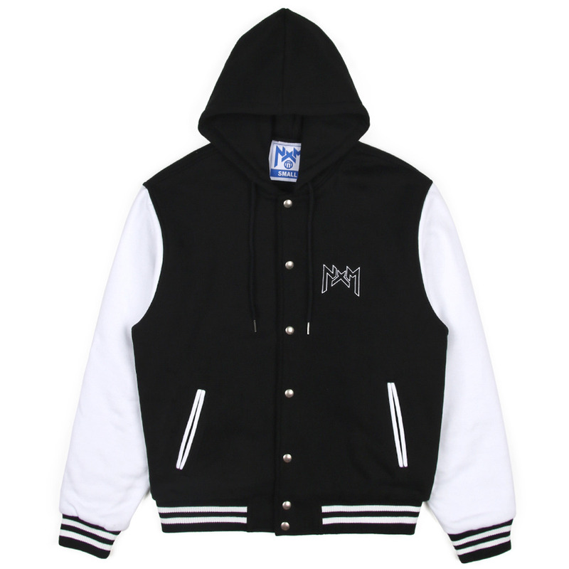 [NASTY PALM] NASTY KICK HOODIE STADIUM JACKET (BLK)