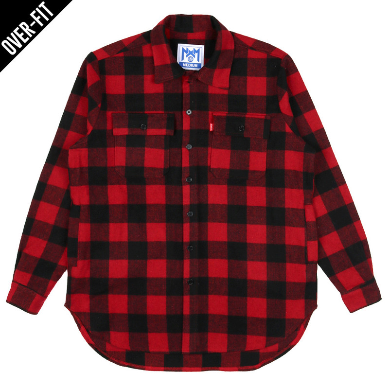 [NASTY PALM] NASTY NOISE FLANNEL SHIRTS (RED)