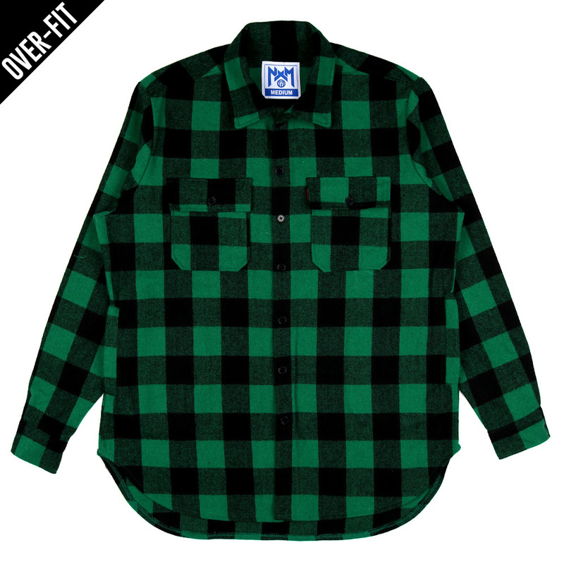 [NASTY PALM] NASTY NOISE FLANNEL SHIRTS (GREEN)