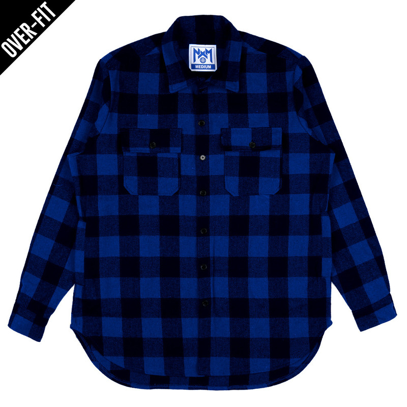 [NASTY PALM] NASTY NOISE FLANNEL SHIRTS (BLUE)