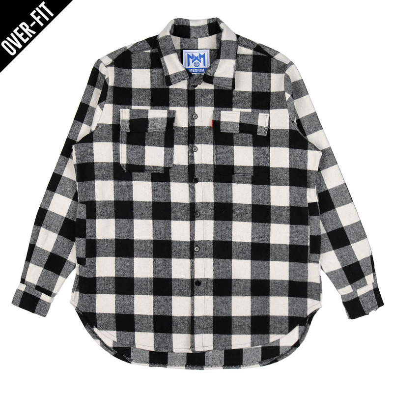 [NASTY PALM] NASTY NOISE FLANNEL SHIRTS (BLK)