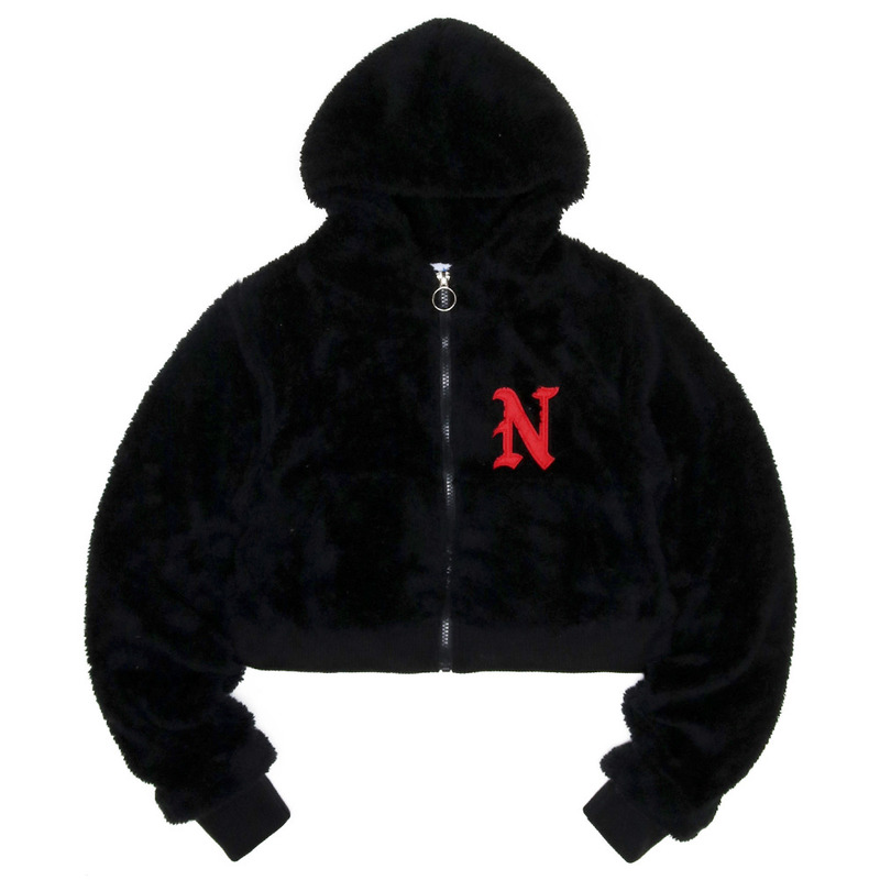 [NASTY PALM]  FRUFFY NASTY ZIPUP HOODY (BLK)