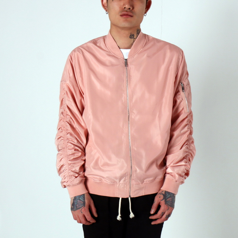 [$ SHOP SALE] [EPTM] LT WEIGHT MA-1 JACKET (DUSTY PINK)