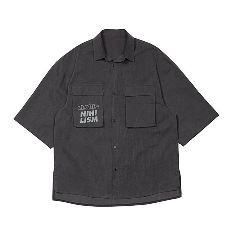 [OVERR] TOME.2 POCKET PIGMENT GRAY SHIRTS