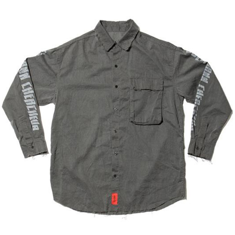[OVERR] 17S/S PIGMENT GRAY POCKET SHIRTS