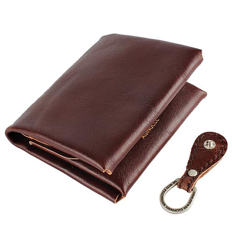 [AGINGCCC] 24# H FOLD WALLET - REDBROWN