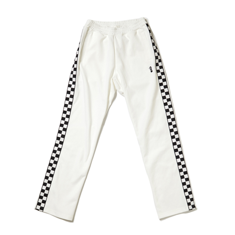[THANKS FATHER] 2 TONE TRACKPANTS (OFF WHITE)