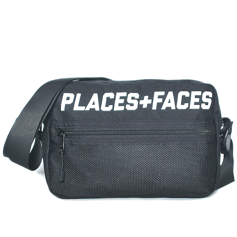 "[PLACES+FACES] ""P+F"" POUCH BAG / BK"