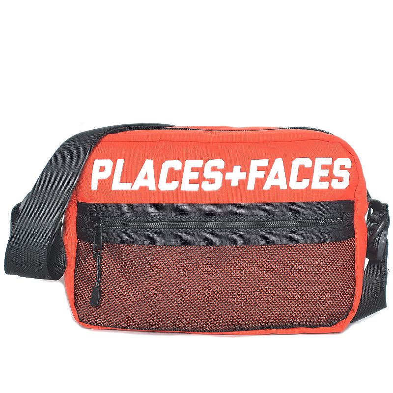 "[PLACES+FACES] ""P+F"" POUCH BAG / RED"