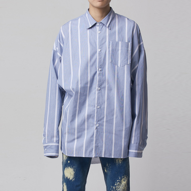 [TAKEASY] BOLD STRIPE OVER SHIRT
