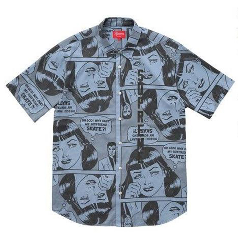 [SUPREME] THRASHER BOYFRIEND SHIRT (BLUE)