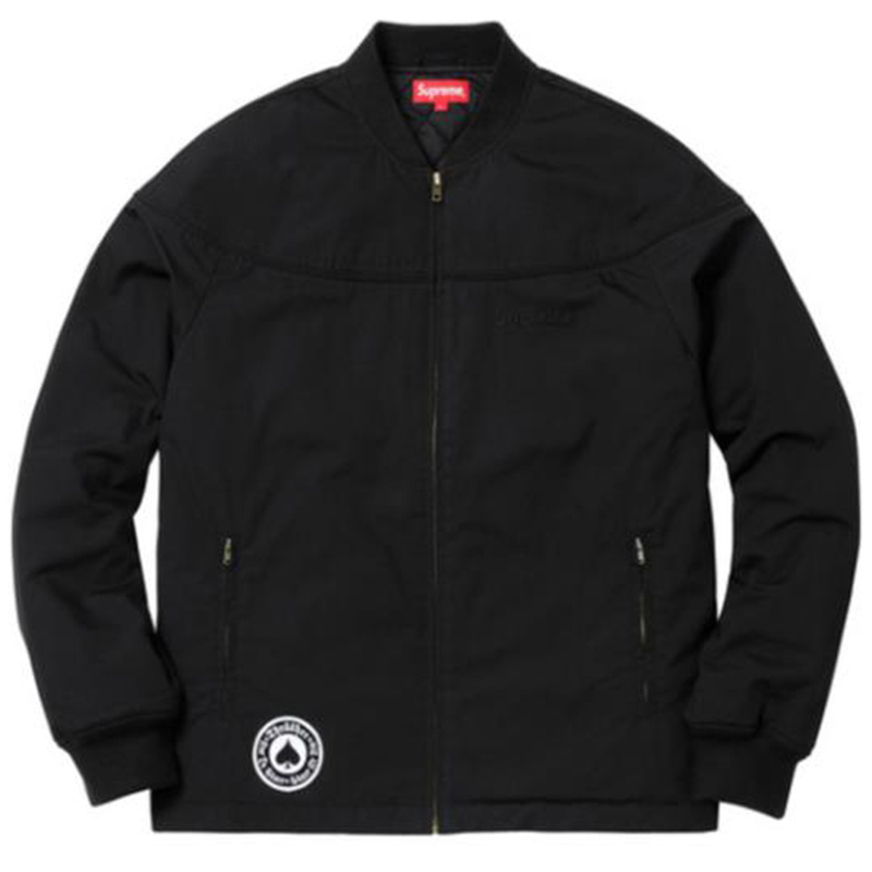 [쿠드그라스 연말 FINAL SALE] [SUPREME] THRASHER POPLIN CREW JACKET (BLACK)