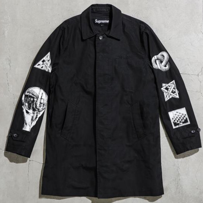 [SUPREME] M.C.ESCHER TRENCH COAT (BLACK)