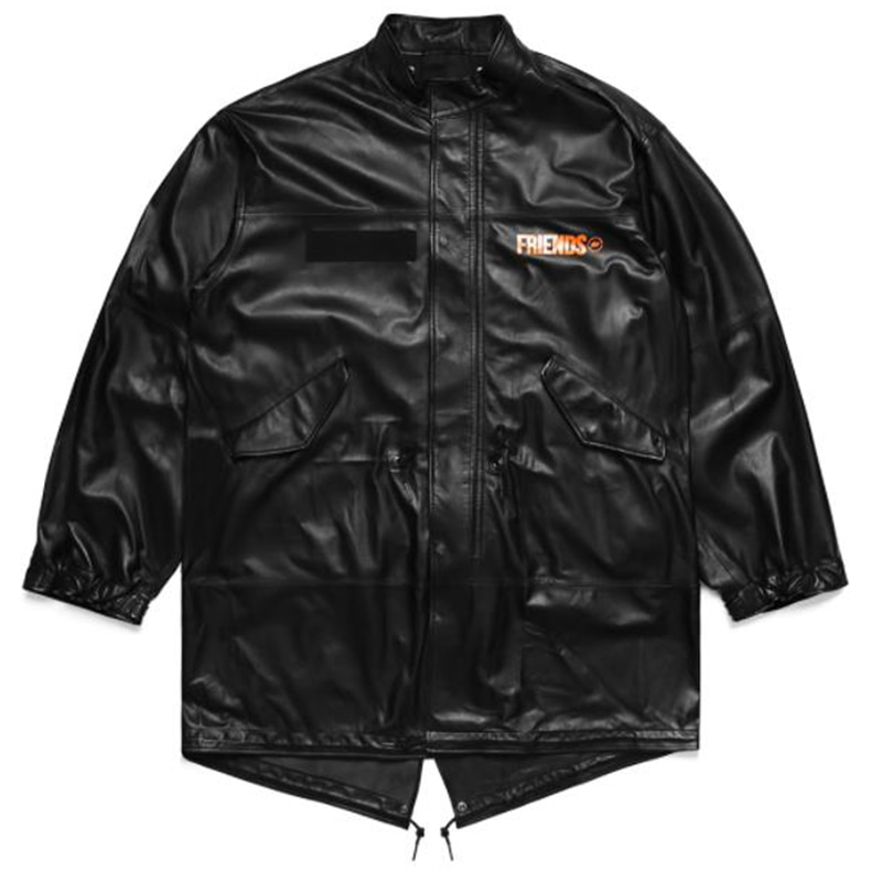 [VLONE] VLONE X FRAGMENT LEATHER PARKA