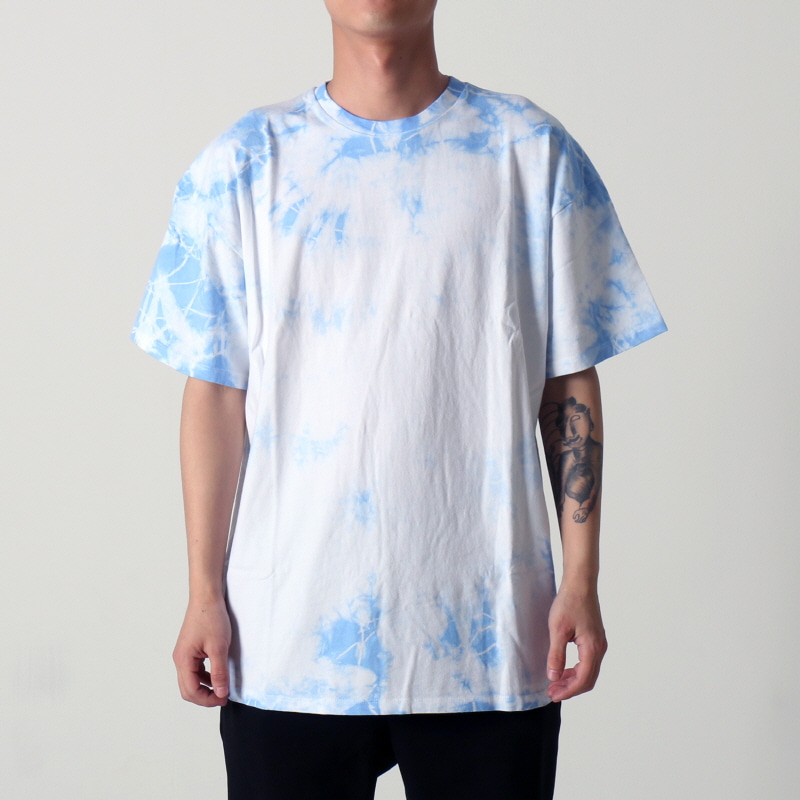 [$ SHOP SALE] [EPTM] UNEVEN WASHED BOX TEE (BLUE)