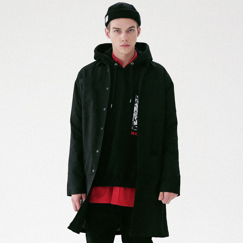 [MASSNOUN] SIGNATURE ORIGINAL HEMP COAT MFVCT001-BK