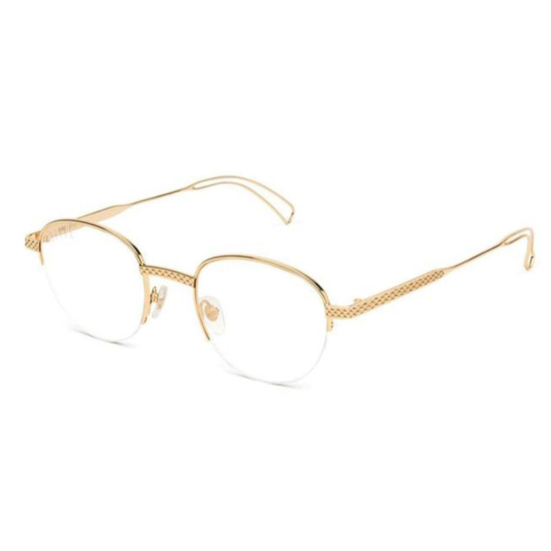 [9FIVE] DIME 24K GOLD CLEAR LENS GLASSES