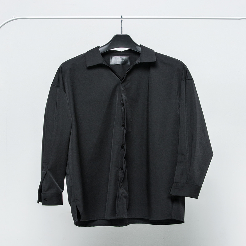 [WANTON] WANTON 'L' BOX SHIRTS BLACK