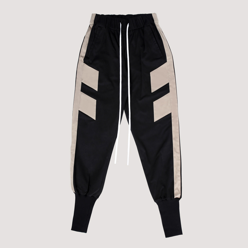 [FION] PATCH-LONG BANDING JOGGER PANTS
