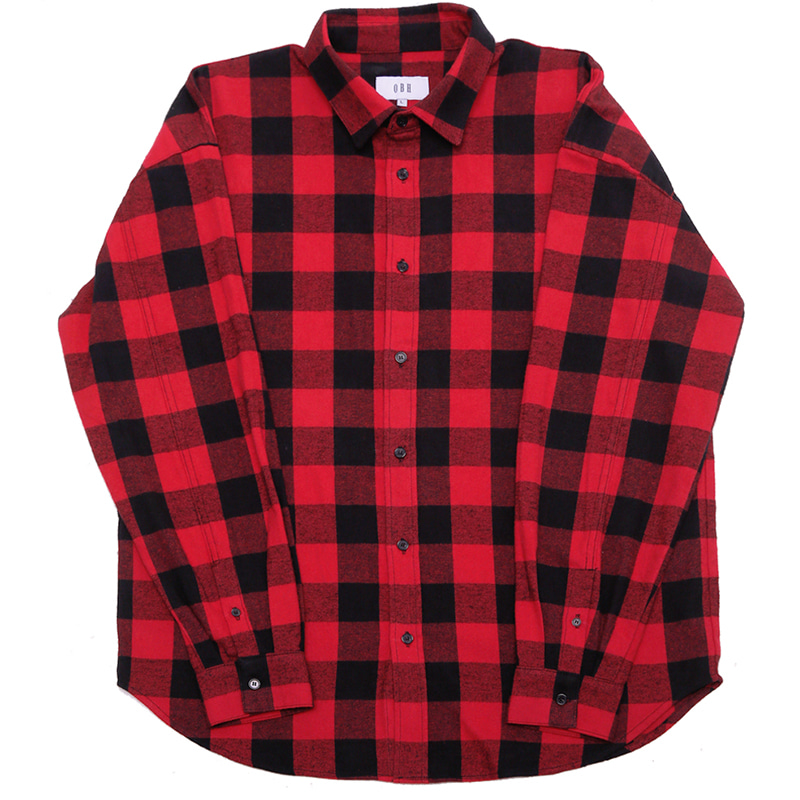 [OBH] FLANNEL SHIRT - RED
