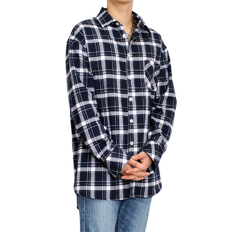 [CLACO] FLANNEL SHIRTS V3 (NAVY)