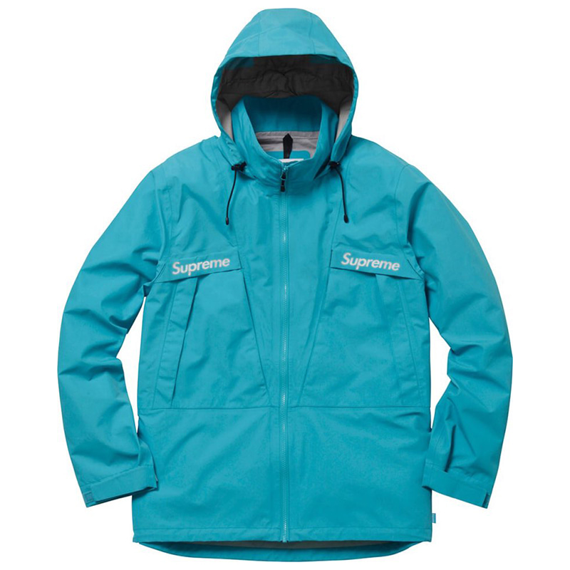 [SUPREME] TAPED SEAM JACKETS (AQUA TOPAZ)