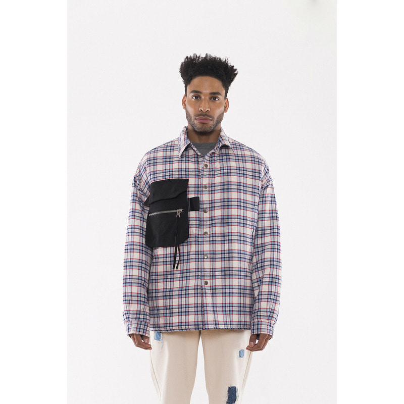 [VAN CALLE CAMINOS] Calle off white oversized pockets Flannel shirt