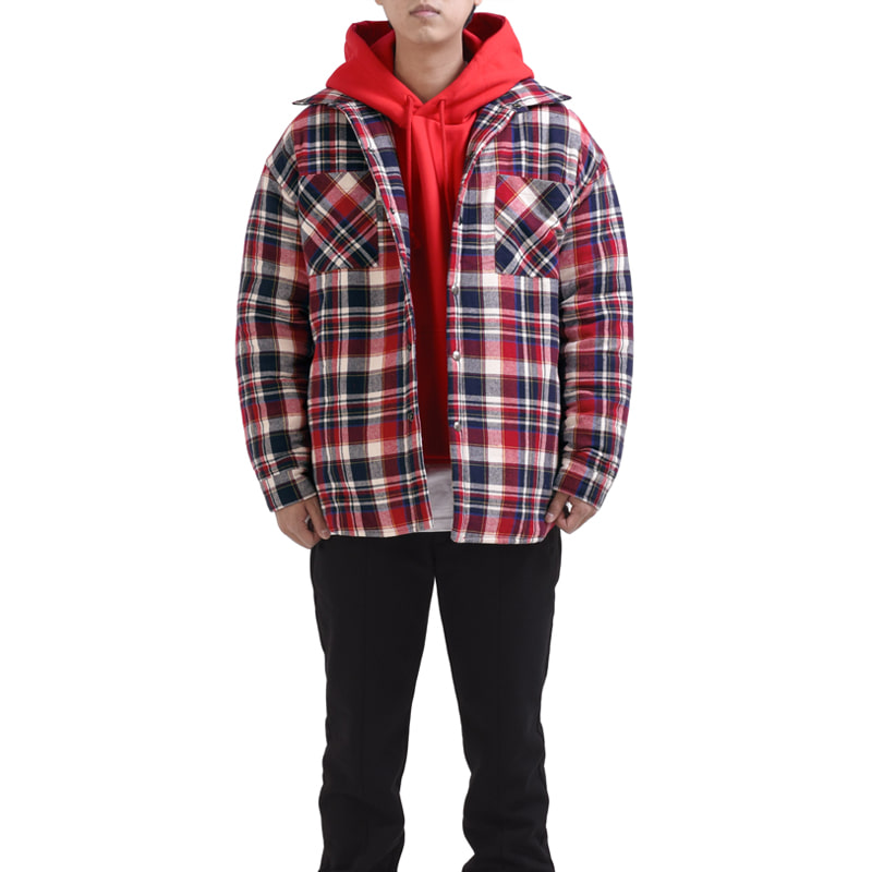 [RCNP] FLANNEL PADDED SHIRTS (RED)