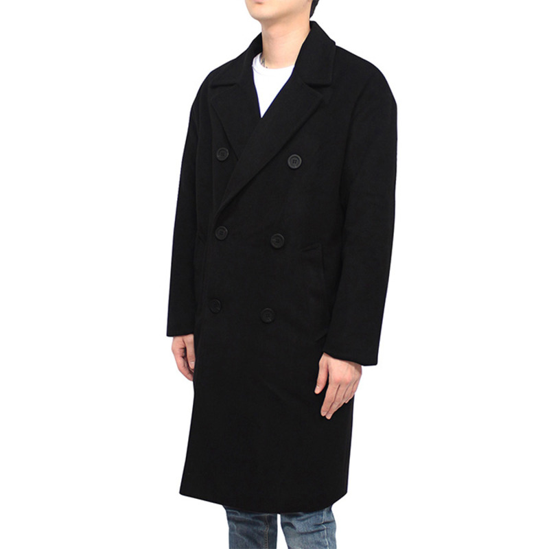 [CLACO] COMFY DOUBLE COAT (BLACK)