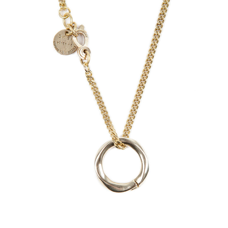 [AGINGCCC] 256# SOLIDBRASS RING NECKLACE