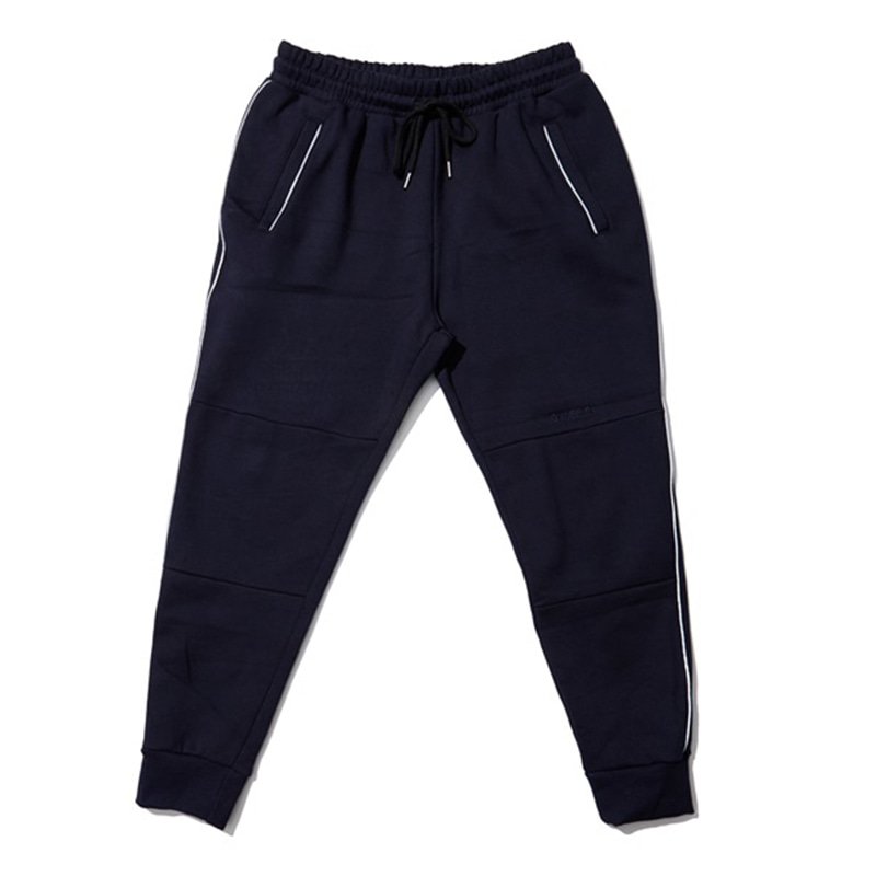 [OVERR] EASSY.3 NAVY SCOTCH PIPING PANTS